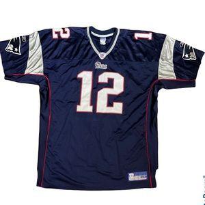 Reebok NFL Patriots Brady Authentic Jersey Size 54